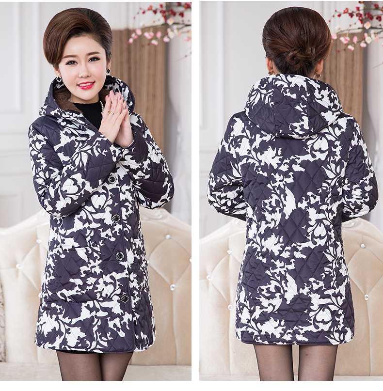 2016chinese winter long coat parka jacket Middle aged abrigos mujer plus size women elegant winter