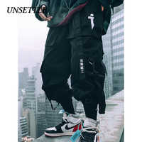 UNSETTLE Japanese Side Pockets Cargo Pants military style men Hip Hop Male Tatical Trousers mens Joggers Casual Streetwear Pants