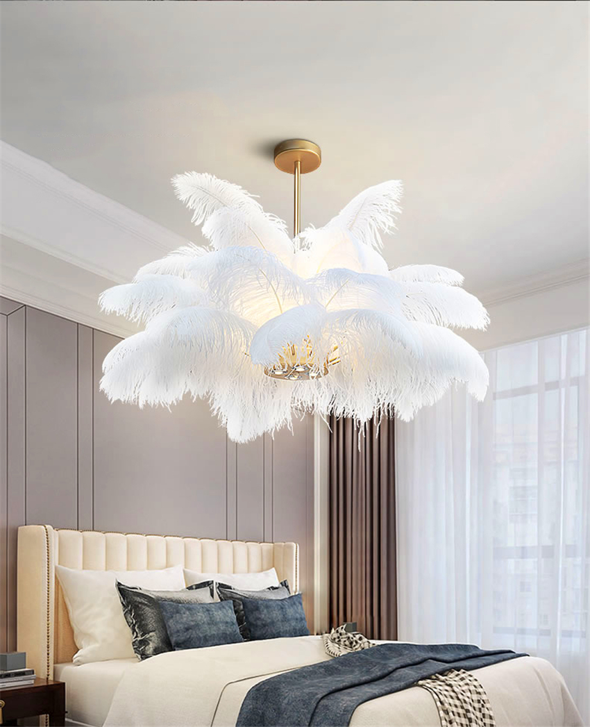 luxury feather lighting