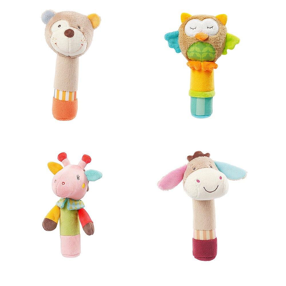 Bébé jouets bébé jouets 0-12 mois hochet nouveau-né main bâtons de roche bébé animaux jouets en peluche Bb bâtons nouveau