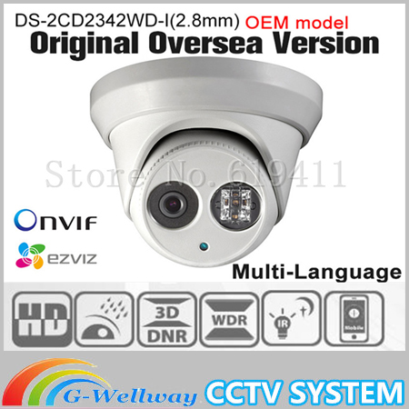 OEM DS-2CD2342WD-I(2.8mm) HIK English version 4MP IP camera Onvif P2P POE CCTV camera Network Camera security Camera HIKVISION newest hik ds 2cd3345 i 1080p full hd 4mp multi language cctv camera poe ipc onvif ip camera replace ds 2cd2432wd i ds 2cd2345 i
