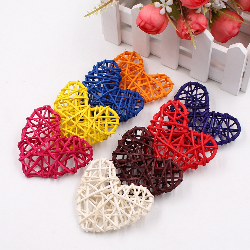 5pcs/lot 6cm Rattan love Artificial Straw Ball Colored Birthday Party Wedding Decoration Christmas Decor Home Ornament Supplies5pcs/lot 6cm Rattan love Artificial Straw Ball Colored Birthday Party Wedding Decoration Christmas Decor Home Ornament Supplies
