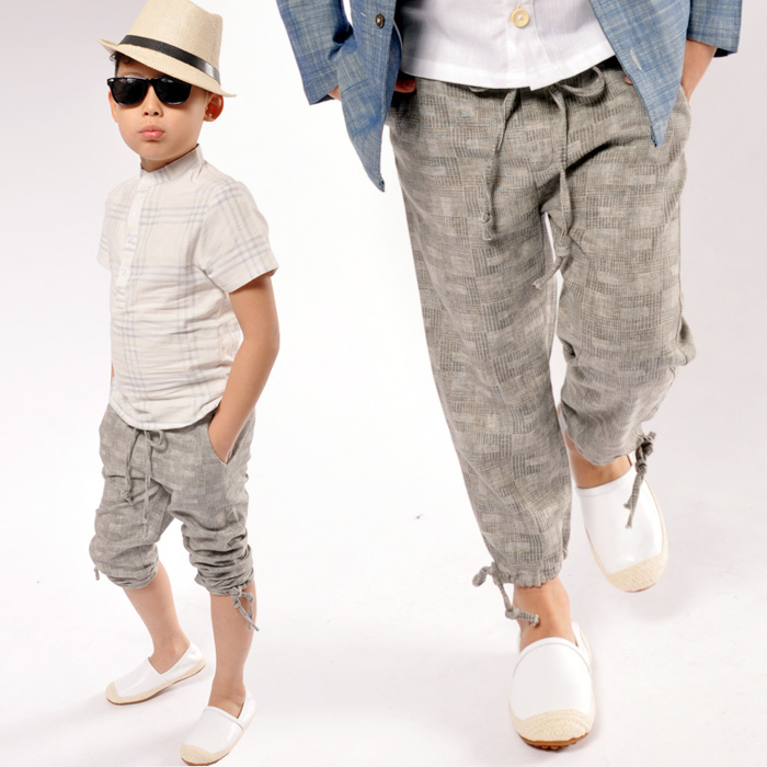 Aliexpress.com : Buy Comfortable Linen Boys Pants Spring Summer ...