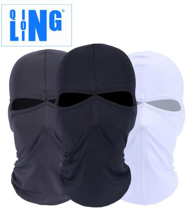 2 Hole Full Face Mask Balaclava Hat Motorcycle Bike Hunting Cycling Cap Ski Military Tac ...