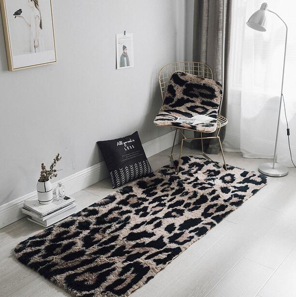 Us 27 99 22 Off Leopard Print Shaggy Mink Cashmere Carpet Fluffy For Living Room Bedroom Kids Rug Home Mat Non Slip Sofa Tea Table In