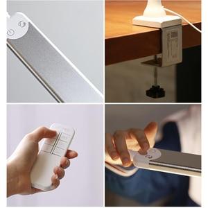 Image 5 - リモコンビジネス Led 会社のデスクランプクランプ 5 色温度 5 Brightenss 目のケアロングアームスタディテーブルランプとプラグ