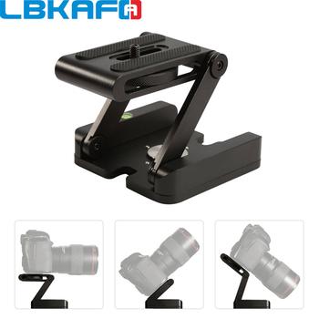 LBKAFA przewód do aparatu statyw Z Pan Tilt aluminiowy składany uchwyt na statyw głowy rozwiązanie fotografia Studio do aparatu Nikon Canon Gopro YI tanie i dobre opinie Aluminum ZD09