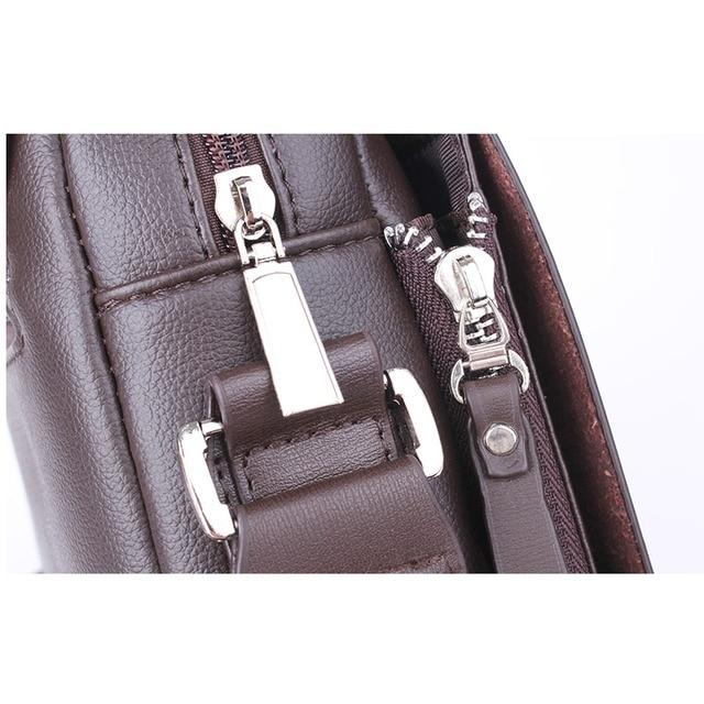 New Arrived luxury Brand men's messenger bag Vintage leather shoulder bag Handsome crossbody bag handbags Free Shipping 4