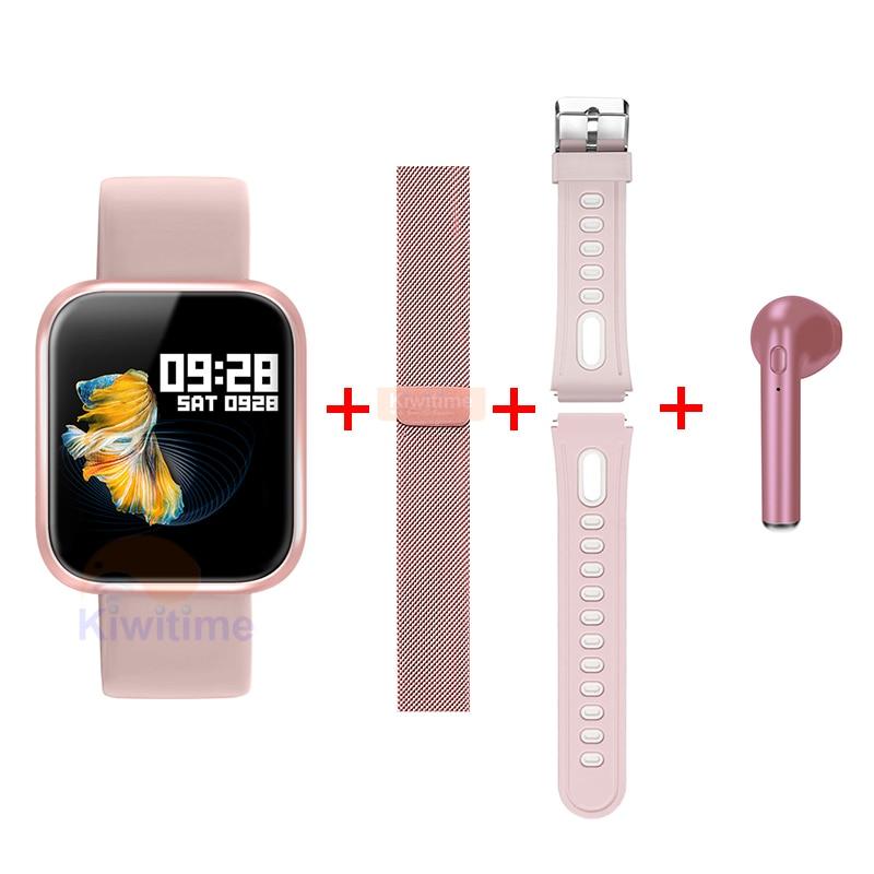 KIWITIME Smart Watch P70 Sports Bracelet Fitness Heart Rate Blood Pressure Monitor Women Smartwatch for Apple