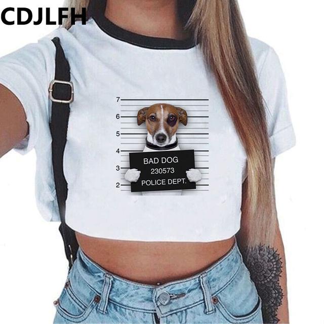 Crop Top Dog Print