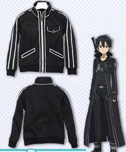 Anime Sword Art Online SAO Asuna Kirito game cosplay costume version hoodie jacket coat