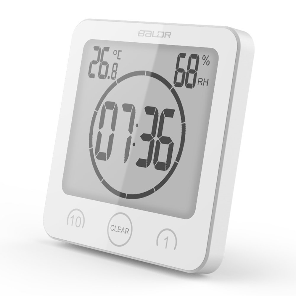 Waterproof Digital Countdown Timer Clock For Kitchen Bathroom With