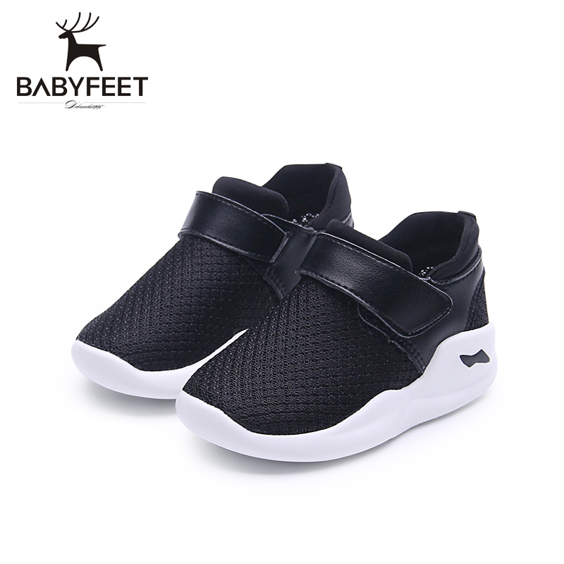 Babyfeet 2017 New Fashion Baby First Walkers Casual Soft Bottom Breathable Non Slip Wear proof Convenience Boys Girls Shoes baby shoes first walkers baby soft bottom anti slip shoes for newborn fashion cute soft baby shoes leather winter 60a1057