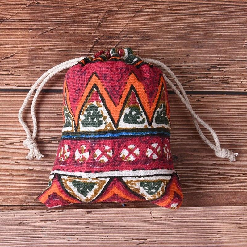 2 Arten Strahl Port Lagerung Geschenk Tasche Praktische Unisex Tasche Cluch Einkaufstaschen Ethnischen Stil Druck Kordelzug