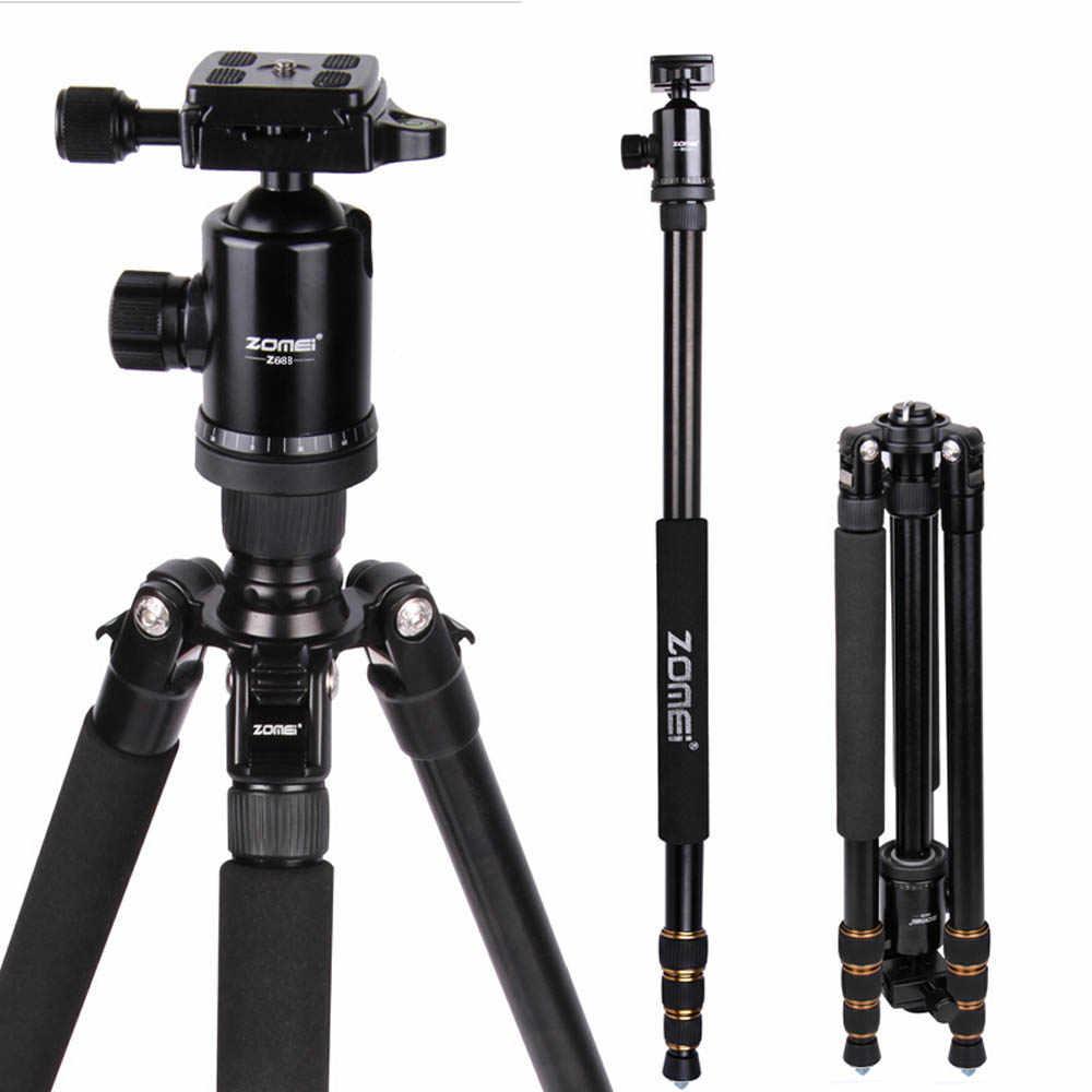 Baru Zomei Z688 Aluminium Portabel Tripod Monopod Z-818 Perjalanan Kompak untuk Digital SLR DSLR Kamera Berdiri Lebih Baik dari Q666