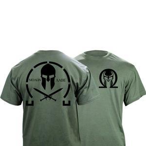 Image 1 - Männer Klassische Molon Labe Grafik T Shirt Doppel Seite Neue Sommer Mode männer Einfache Kurzen Ärmeln Baumwolle Anpassen T shirts