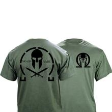 Mannen Molon Labe Grafische T shirt Double Side Nieuwe Zomer Mode Mannen Eenvoudige Korte Mouwen Katoen Aanpassen T shirts