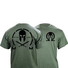 T Shirt graphique Molon Labe classique pour hommes Double face nouvelle mode dété coton à manches courtes Simple pour hommes personnaliser t shirts