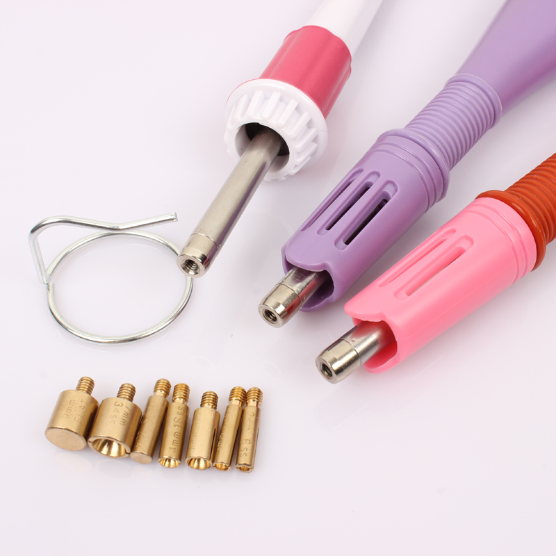 EU/US Plug Purple/pink/white 7 Tips 5 Seconds Fast Heated! Iron-on Hot Fix Rhinestone Applicator Wand Heat-fix Tool Free Ship