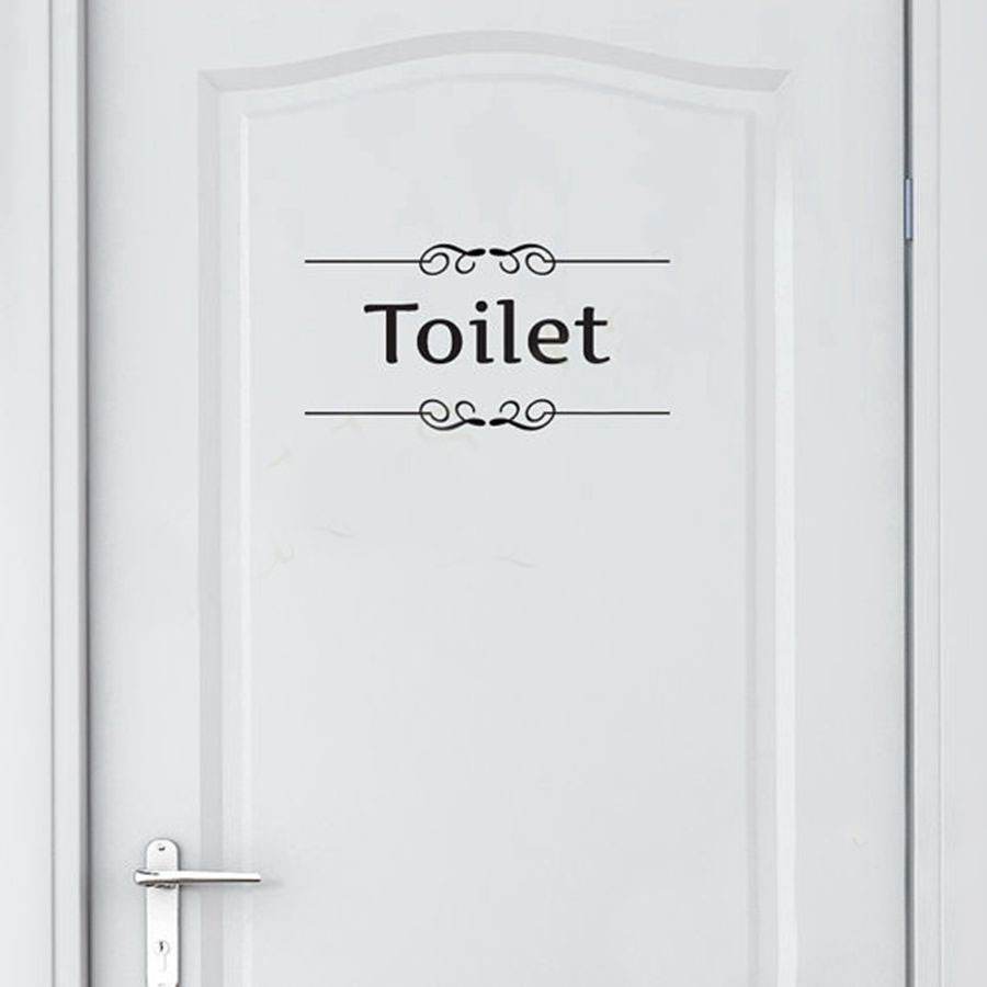 toilet door stickers reviews online shopping toilet door free shipping vintage wall sticker bathroom decor toilet door vinyl decal transfer vintage decoration quote wall art