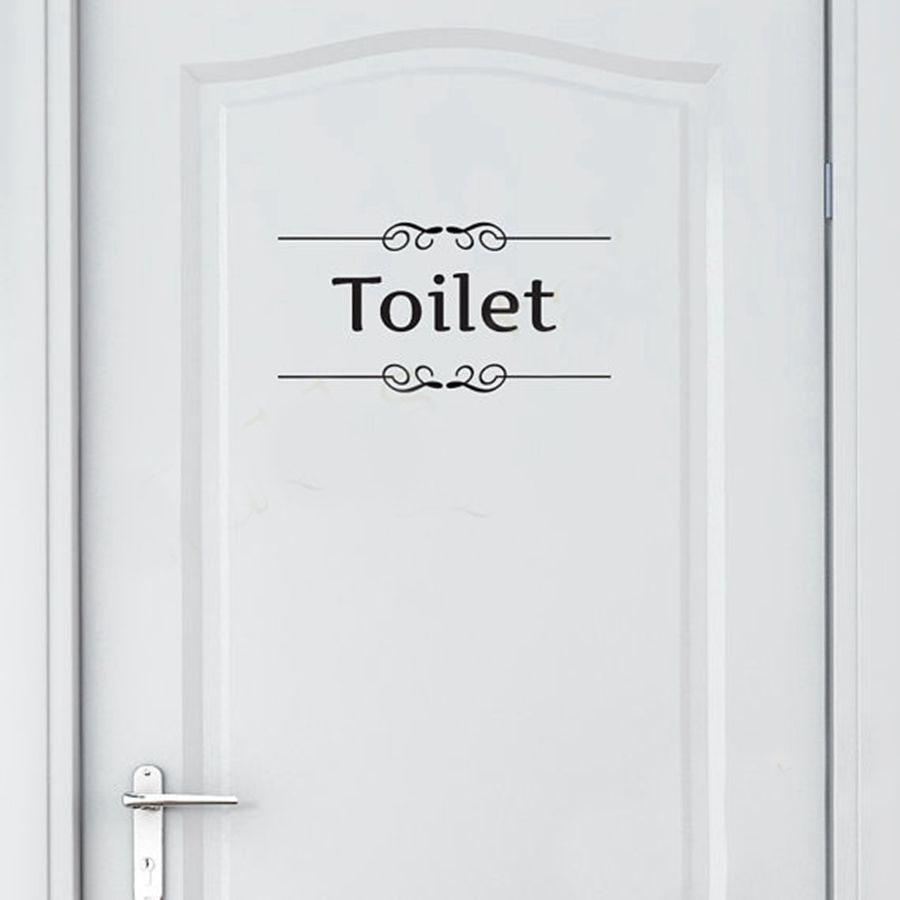 Koop gratis verzending vintage muursticker badkamer decor wc deur vinyl decal - Originele toiletdecoratie ...