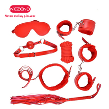 NEZEND flirting plush sex seven sets of binding hand cuffs couples toys SM series mouthball leather whip handcuffs