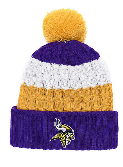 37ef9ef90e0 2019 new Vikings Knit Football Beanies Winter Cap Basketball Skullies  Embroidery logo Cuff football Caps Free Shipping