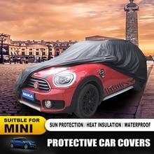 Nowy samochód na świeżym powietrzu akcesoria ochronne MINI COOPER pokrowce na samochód odporna na kurz odporne na słońce samochodów pokrowce dla MINI COOPER ONE F55 f56 R60 F60