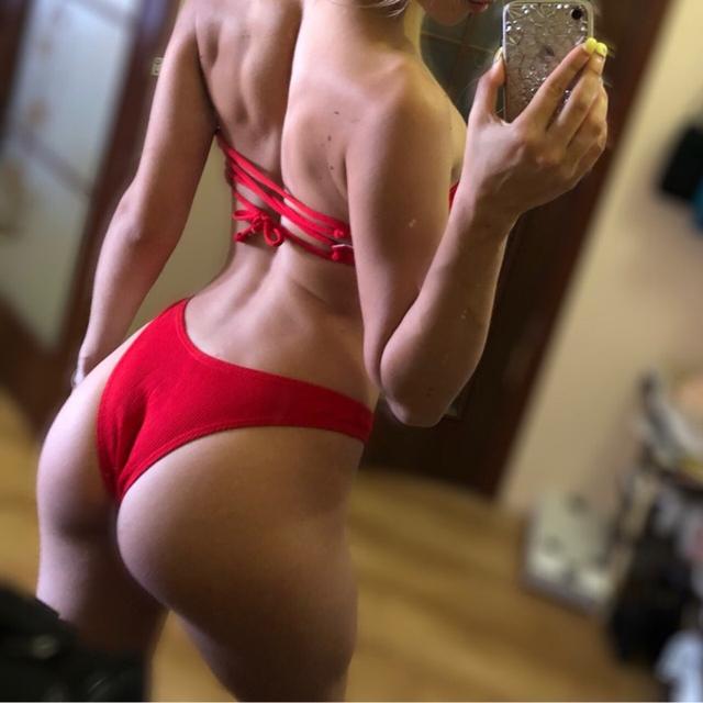 Woman Bikinis Solid Bandage Swimsuits