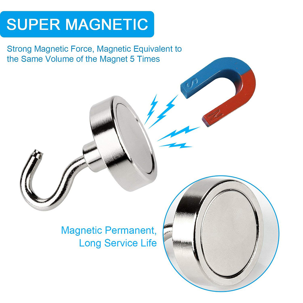 Strong Magnetic Hook Mini Heavy Duty Hanger Durable For Home Kitchen Refrigerator LBShipping