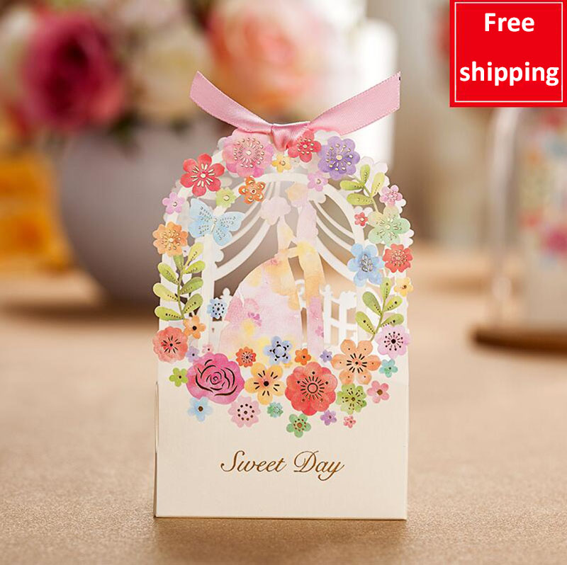 っ10 Pcs Beautiful Series Portable Candy Box Double Buckle Paper