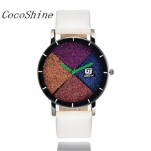 CocoShine ZM-856 Alta Qualidade Frete grátis & Atacado Moda Ms Couro Banda Relógios De Quartzo Analógico Esporte Data Relógio de Pulso