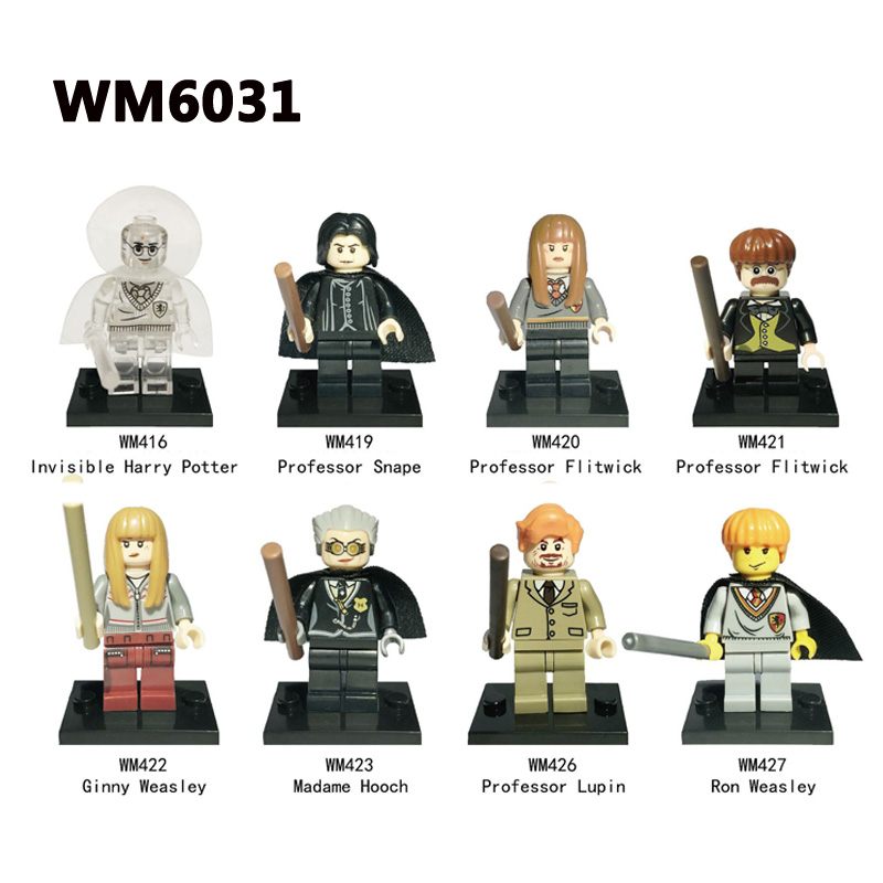 2018 New Building Blocks Invisible Harry Potter Professor Snape Professor Flitwick Professor Lupin Bricks Kids Toys Gifts WM6032