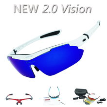 Upgraded ! 2.0 Vision REVO Polarized Cycling Glasses Outdoor Sports Bicycle Bike Sunglasses TR90 Goggles Quality Eyewear 5 Lens