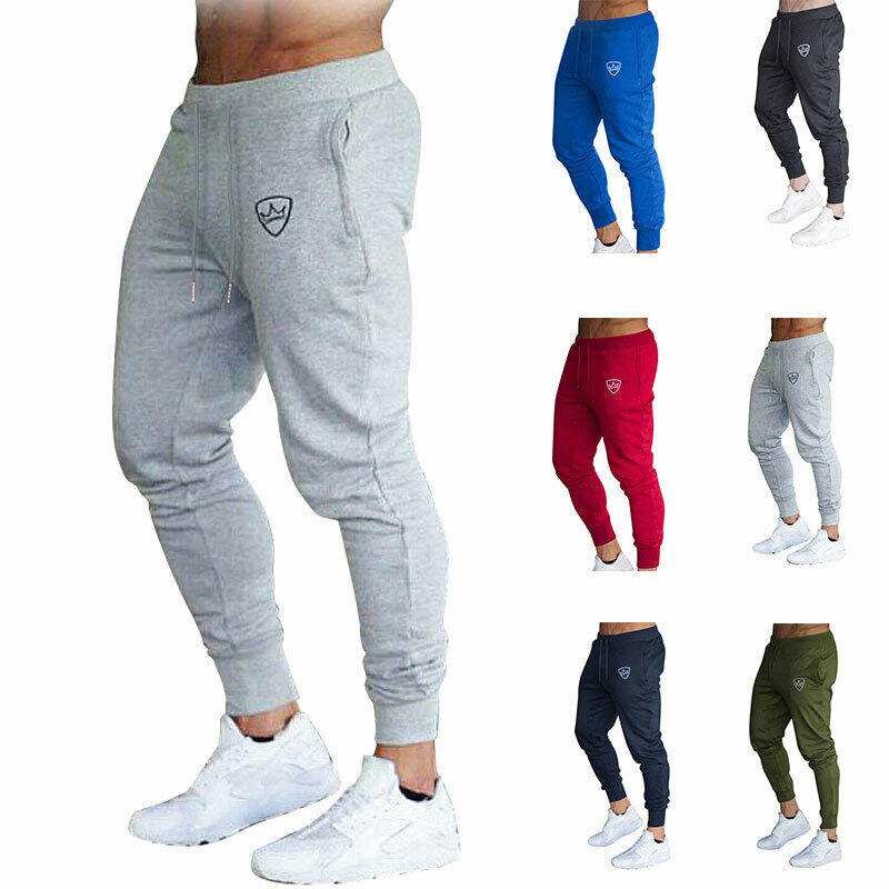 New Mens Pant Slim Fit Tracksuit Sport Gym Skinny Elastic Jogging Joggers Fitness Workout Casual Male Sweatpants Trousers