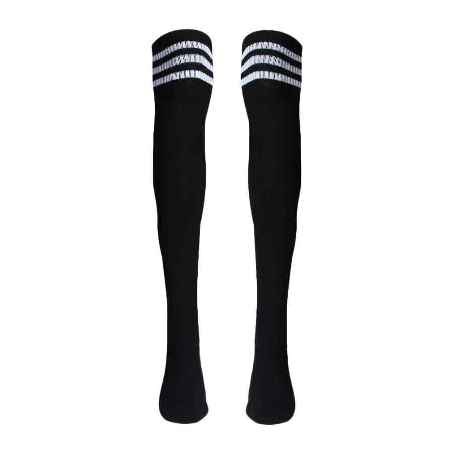 Men 1 Pair Thigh High Stockings Over Knee Deporte Calcetines mujer women Top Quality