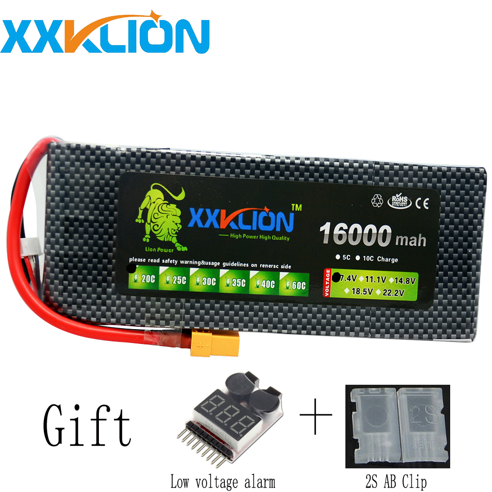 XXKLION drone Lipo battery pack 7.4v 16000mAh 20C 2S for rc airplane Aerial multi - axis unmanned aerial vehicle Free Shipping free shipping hr sh5 rc airplane remote control plane aerial hd camera 6 axis gyroscope unmanned aerial vehicle uav drone toys