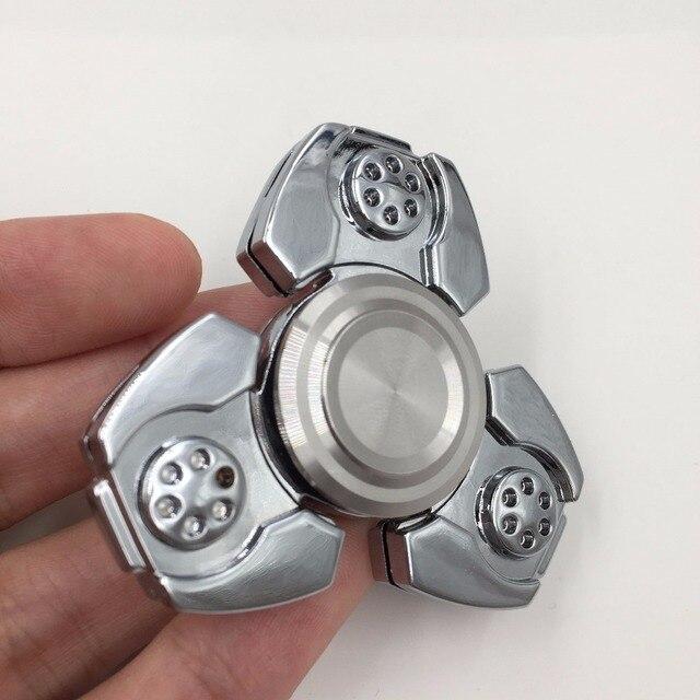 New Tri-Spinner Fidgets Anti Spring Toy Hand Spinner Metal Spinner New Zinc Alloy Ceramic Bearings Finger Gyro EDU Toys