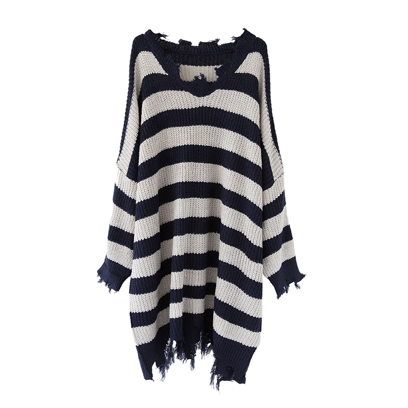 2017 autumn women oversize strip tassel knitted maternity pullover sweaters cape clothes for pregnant women pregnancy dress top