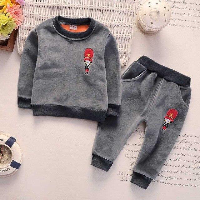 267e04f4b Newborn baby boys clothing set spring toddler casual velvet ...