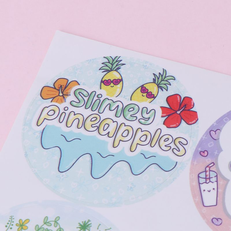 5 sheets 120pcs Cartoon Slime Containers Sticker Slime Supplies DIY Accessories in Stickers from Toys Hobbies