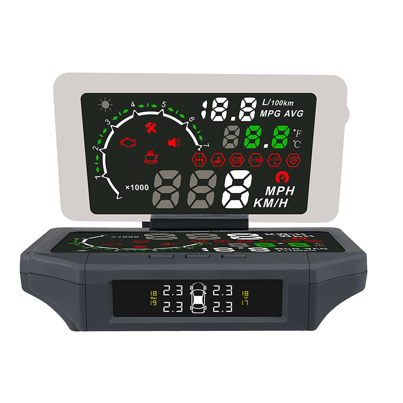 Auto Head Up Display Car Hud Car Speed Projector Head Up Display AUTO HUD Holder Mount with TPMS Monitor LCD Color Display universal 3 5 car hud a3 head up display with obd2 interface