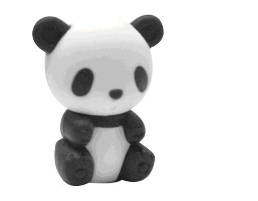kawaii panda eraser Chinese treasure animal eraser wolrd unique animal eraser 40 pieces per lot