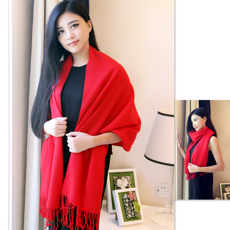 2017 new Korean version of the bat tassel cashmere shawl s