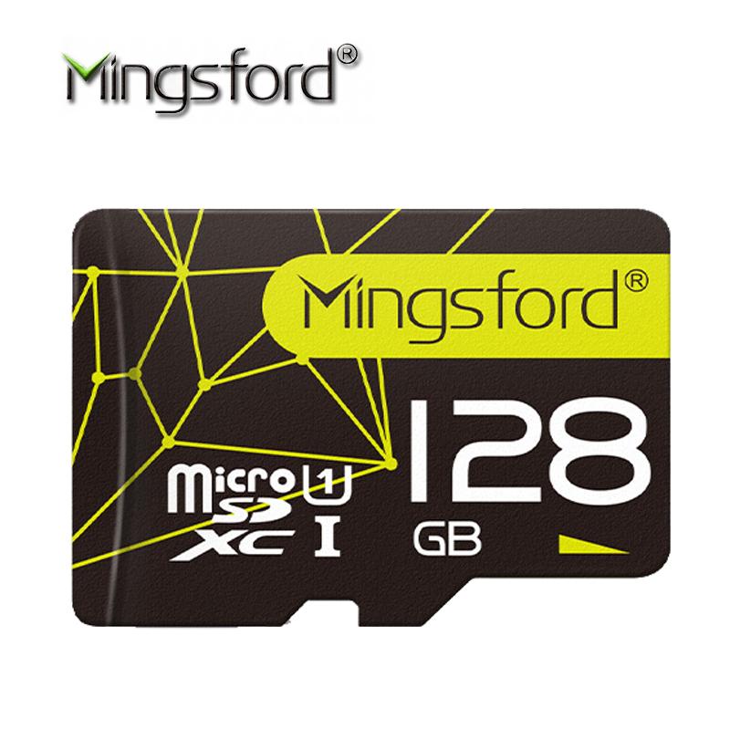 Prix pour Mingsford 3.0 carte mémoire 128 gb sdxc max jusqu'à 80 mb/s micro sd carte SDXC 128G SD CARTE UHS-1 U1 Class10 pour Smartphone Tablet