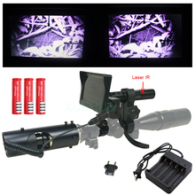 Cheapest prices 2018 Hot Hunting optics sight Laser Tactical digital Infrared night vision Binoculars with Flashlight and monitor For Scope