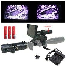 2018 Gorące Laser sight Tactical Polowanie optyka cyfrowa w Podczerwieni night vision Lornetki z Latarką i monitor Dla Zakres