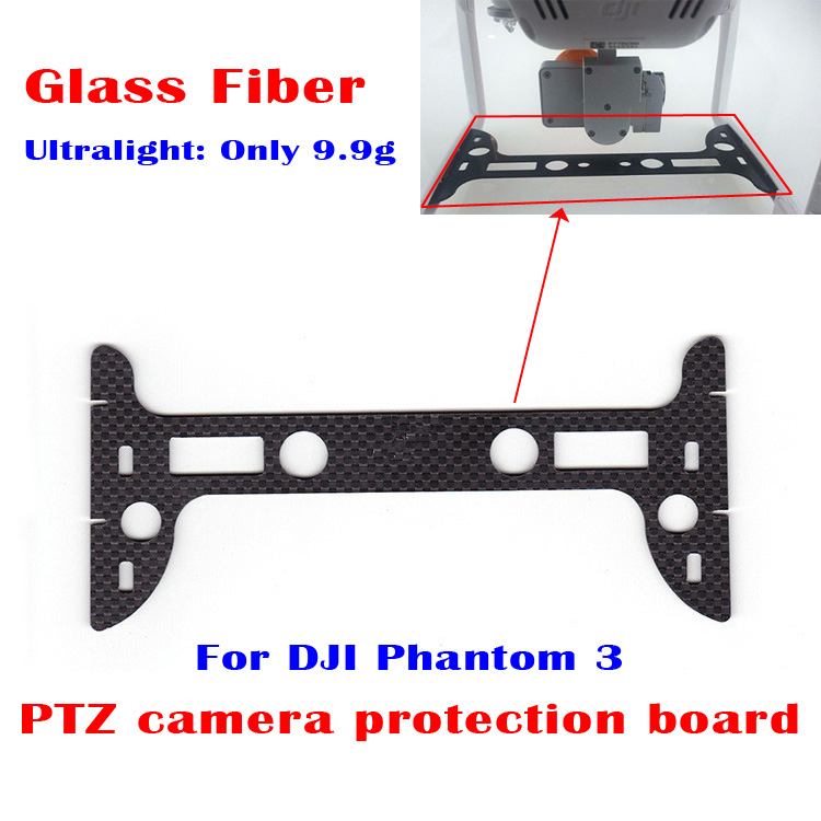 Black Glass Fiber PTZ Camera Lens Protection Board Spare Parts for DJI Phantom 3 RC Quadcopter Drones Ultralight 9.9g