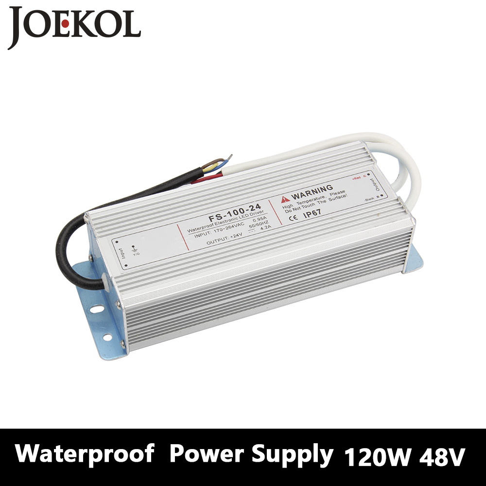 Led Driver Transformer Waterproof Switching Power Supply Adapter,,AC170-260V To DC48V 120W Waterproof Outdoor IP67 Led Strip