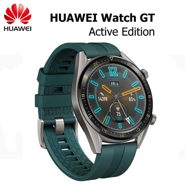"""Huawei社腕時計gtアクティブ版スマートスポーツウォッチ1.39 """"amoledカラフルな画面heartrate gps水泳ジョギングサイクリング睡眠腕時計"""